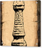 Chess Rook Acrylic Print by Tom Mc Nemar