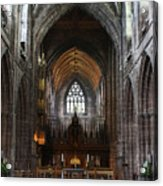 Chester Cathedral England Uk Inside The Nave Acrylic Print