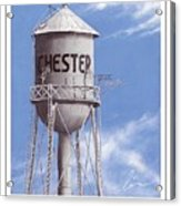 Chester Water Tower Poster Acrylic Print