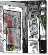 Chesterfield And Lucky Strike Cigarette Signs S. Meyer Avenue Barrio, Tucson, Az 1967-2016 Acrylic Print