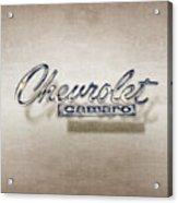 Chevrolet Camaro Badge Acrylic Print