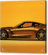 Chevrolet Corvette Stingray 2013 Painting Acrylic Print