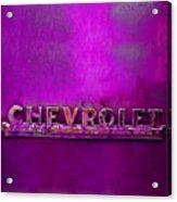 Chevrolet Pink Acrylic Print