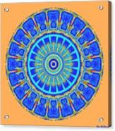 Chevrons Mandala Acrylic Print