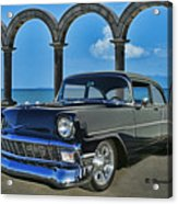 Chevy Belair In Mexico Acrylic Print
