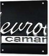Chevy Camaro Emblem Acrylic Print