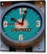 Chevy Neon Clock Acrylic Print