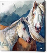 Cheyenne And Tripod Acrylic Print