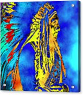 Cheyenne Chief Acrylic Print
