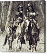 Cheyenne Scouts Patrolling The Big Timber Of The North Canadian, Acrylic Print