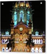 Chhatrapati Shivaji Terminus Formerly Victoria Terminus In Mumbai-3 Acrylic Print