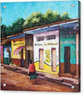 Chiapas Neighborhood Acrylic Print by Candy Mayer