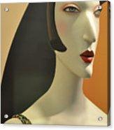 Chic Glamour Girl Acrylic Print