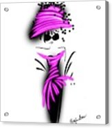 Chic In Pink Silk Couture  Acrylic Print