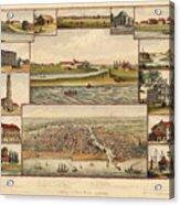 Chicago 1779-1857 Acrylic Print