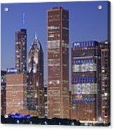 Chicago 2018 Blue Hour Acrylic Print