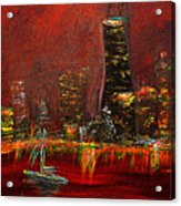 Chicago Acid Trip Acrylic Print