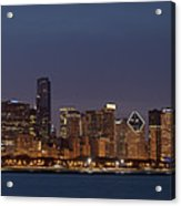 Chicago After Dusk Acrylic Print