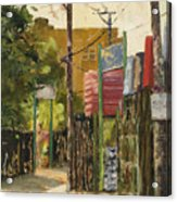 Chicago Andersonville Alley Acrylic Print