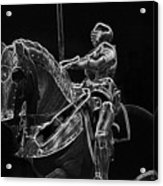 Chicago Art Institute Armored Knight And Horse Bw Pa 02 Acrylic Print