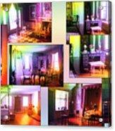 Chicago Art Institute Miniature Rooms Prismatic Collage Acrylic Print