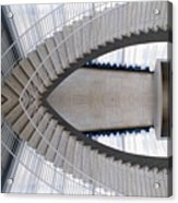 Chicago Art Institute Staircase Mirror Image 01 Acrylic Print