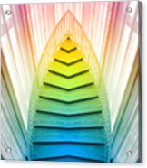 Chicago Art Institute Staircase Pa Prism Mirror Image Vertical 02 Acrylic Print