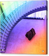 Chicago Art Institute Staircase Pa Prismatic Acrylic Print