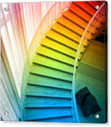 Chicago Art Institute Staircase Pa Prismatic Vertical 02 Acrylic Print