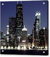 Chicago At Night High Resolution Acrylic Print