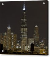 Chicago At Night I Acrylic Print