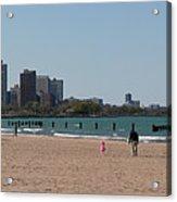Chicago Beach Panorama Acrylic Print