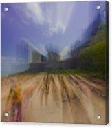 Chicago Beach Zoom Blur Acrylic Print