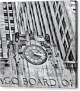 Chicago Board Of Trade Bw Acrylic Print
