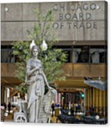 Chicago Board Of Trade Signage Acrylic Print