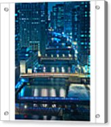 Chicago Bridges Poster Acrylic Print