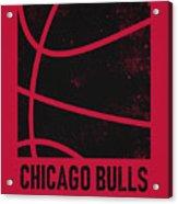 Chicago Bulls City Poster Art 2 Acrylic Print