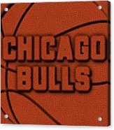 Chicago Bulls Leather Art Acrylic Print