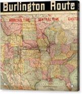 Chicago, Burlington Route System Map, 1892. Acrylic Print