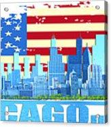Chicago City Skyline Acrylic Print