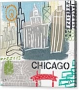 Chicago Cityscape- Art By Linda Woods Acrylic Print