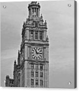 Chicago Clock Tower Acrylic Print