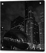 Chicago Cloud Gate Night Acrylic Print