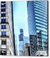 Chicago Concrete Canyons Acrylic Print