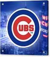 Chicago Cubs Baseball Acrylic Print