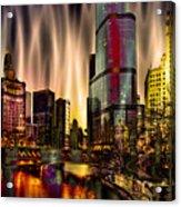 Chicago Draws The Curtain Acrylic Print