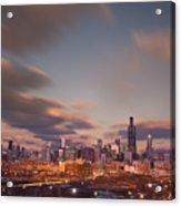 Chicago Dusk Acrylic Print