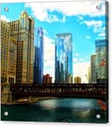 Chicago Fall Acrylic Print
