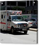 Chicago Fire Department Ems Ambulance 35 Acrylic Print