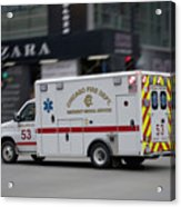 Chicago Fire Department Ems Ambulance 53 Acrylic Print